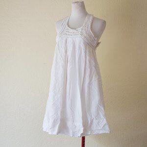 Zara Basic White Racerback Dress Lined Size Small